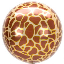 "Animalz Balloon - Animalz Giraffe Print Orbz (15"") 1pc"